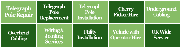Telegraph Pole Repai, Replacement & Installation Kent